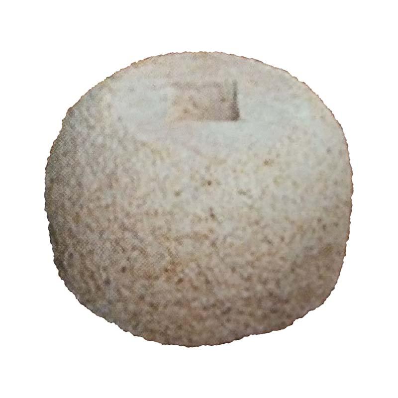 錆石 柱受 丸 5寸 上150×底270×高150 アM【代引不可】
