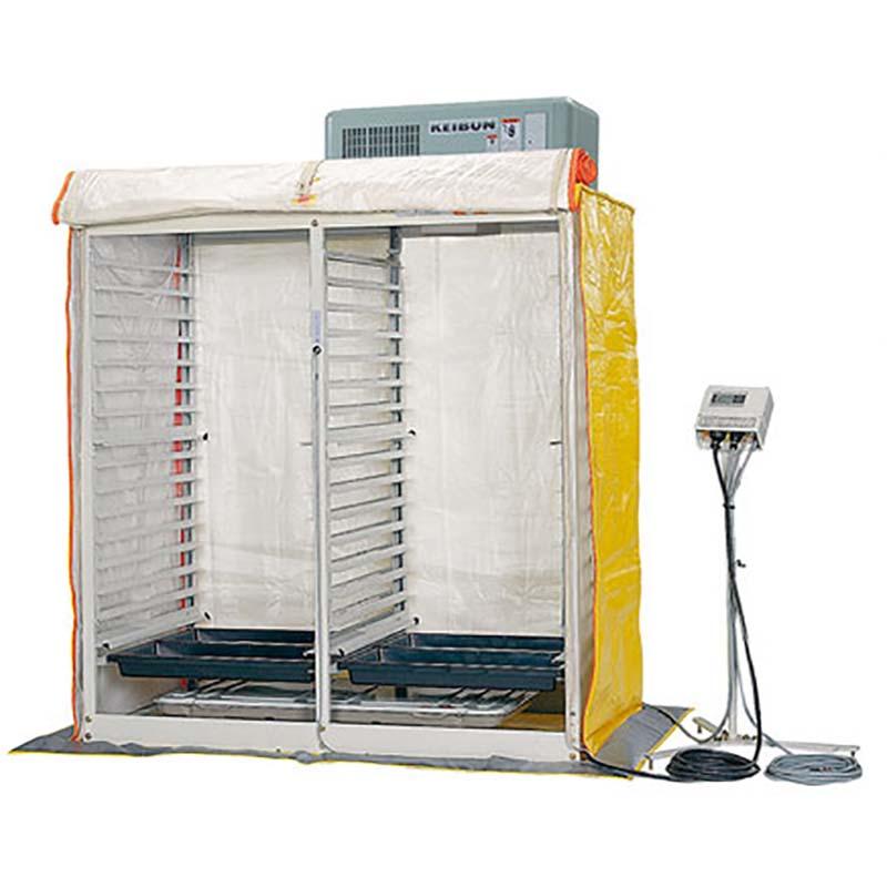 個人宅配送不可 花 野菜専用 発芽器 WR-60CHL-S 60箱収納 冷房機・暖房機付 啓文社 オK 代引不可