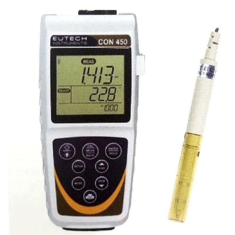 ポータブルEC計 CON450 EC計 TDS計 塩分計 温度計 竹村電機製作所 カ施【代引不可】