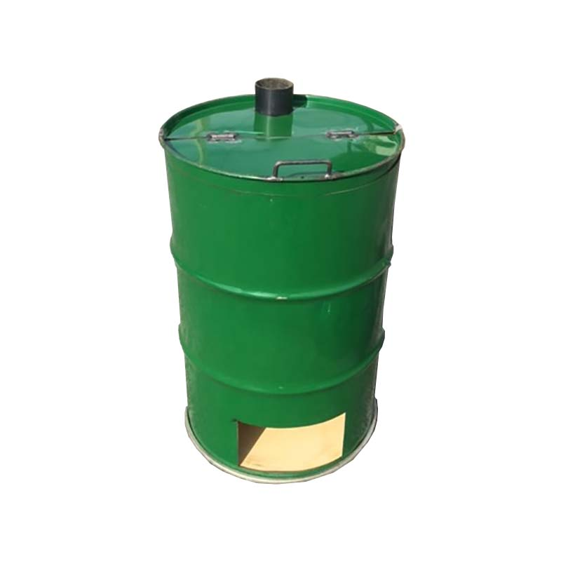 【塗装無】 緑 ドラム缶焼却炉 煙突無 200L 焼却炉 納期6週間 ミY 【代引不可】