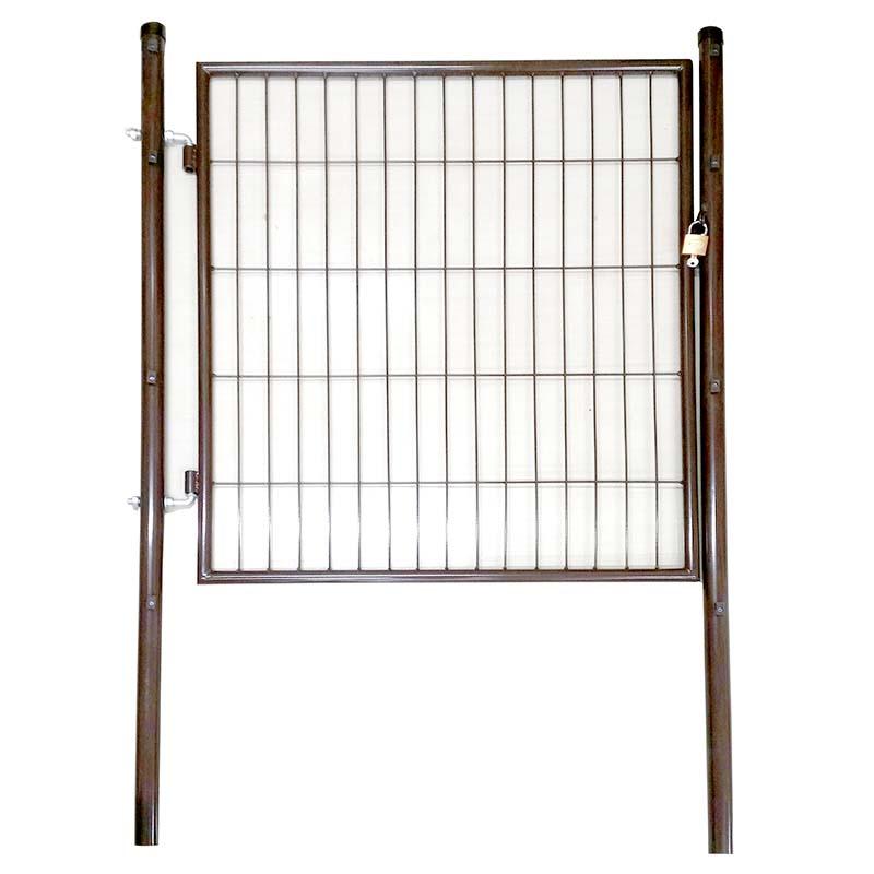 ブラウン 茶 アニマルフェンス用 扉 ガーデンゲート PG-150 鍵付 片開き 1.5m用 プラスワイズ シN直送 BRG15