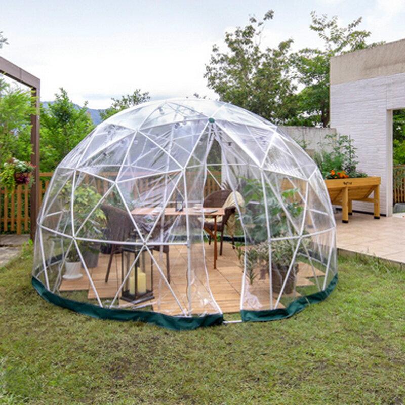 ガーデンドーム GRH-18 直径360xH220 お客様組立品 エクステリア ガーデン ファニチャー 離れ 空間 ビニール ハウス タカショー Z