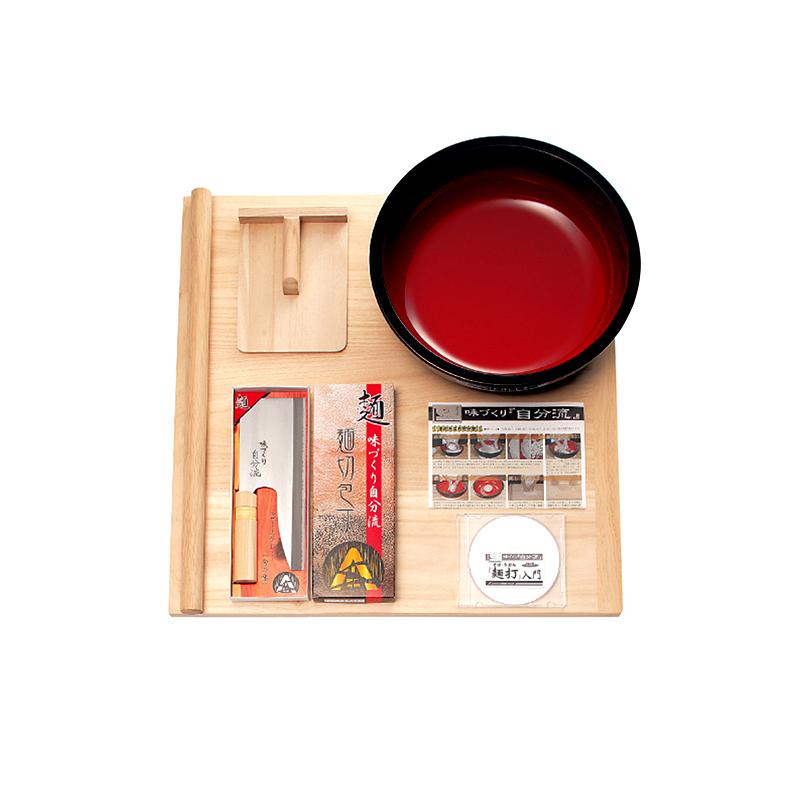 本格的麺打ちセット A-1220 豊稔企販 家庭用麺打ちセット(大) DVD付 そば うどん 高MNH