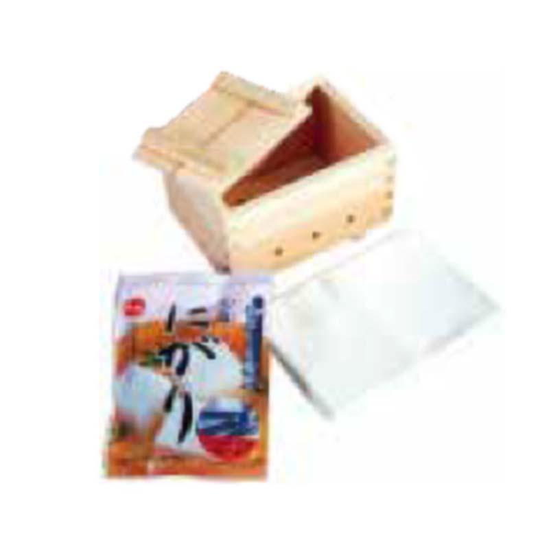 にがりもセットなので 毎日がバーゲンセール 新品 すぐに手作り豆腐が作れます 豆腐作り器 手作り豆腐セット にがり H 日本製 小柳産業 13051 木製