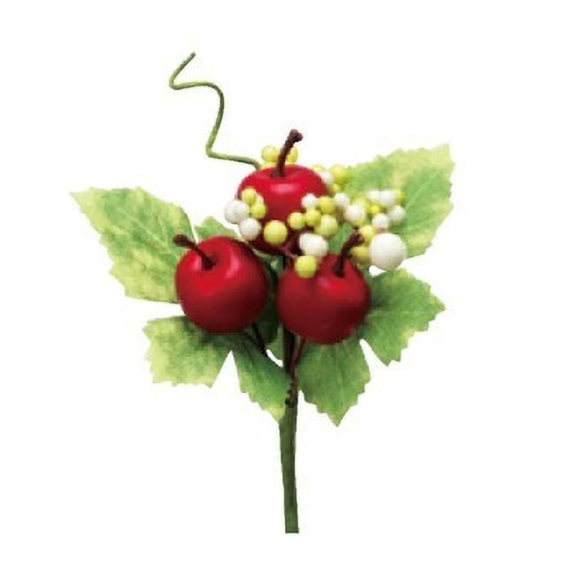 アレンジメントに大活躍 ミニアップルピック H0467 66-792789-0 造花 SALE開催中 リンゴ 代引不可 花資材 フェイクフルーツ 松K イミテーションフルーツ 全店販売中 花材