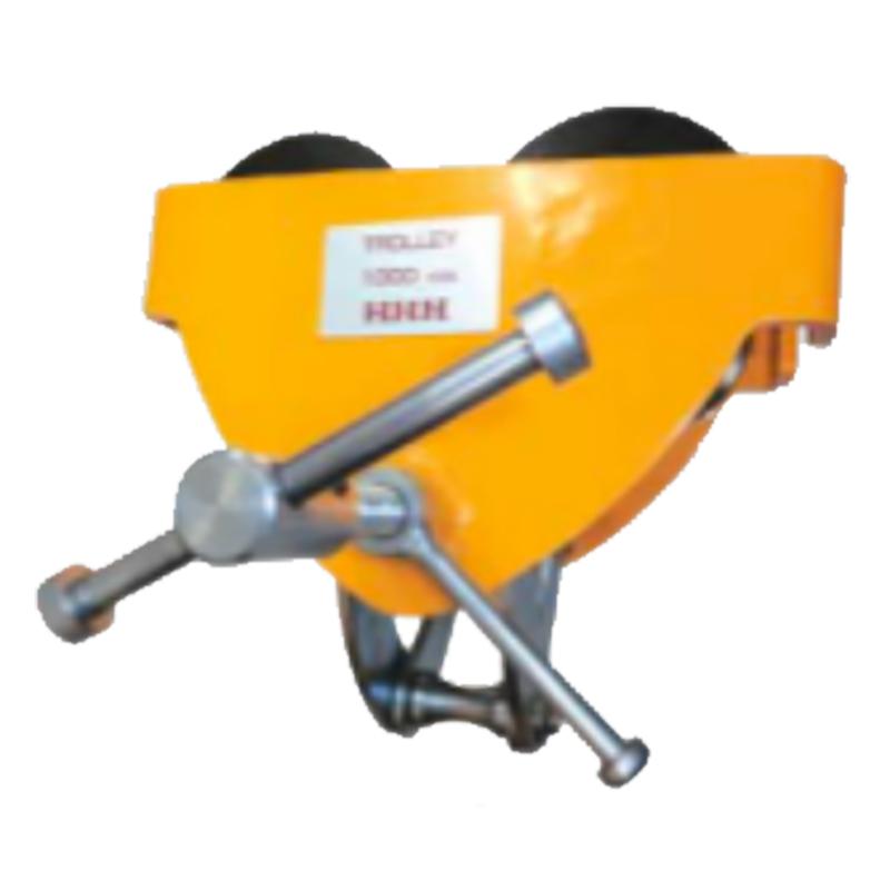 ビームトロリー 型式 BTW1ton 使用荷重 1000 kg 適用ビーム幅 80-150 mm 最小回転半径 1.3 m A 320 mm B 240 mm C 195-230 mm スリーエッチ HHH H