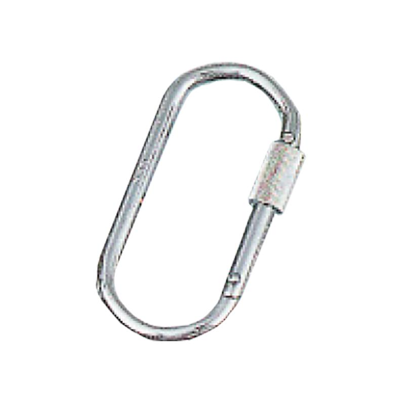 【10個】 吊具 カラビナ K-22 ステンレスO型安全環付 ステンレス d 10 mm l 110 mm w 55 mm スリーエッチ HHH H