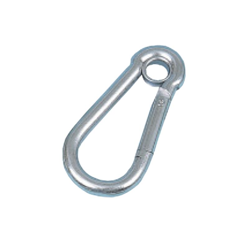【10個】 吊具 カラビナハーケン KS8E ステンレス d線径 8 mm l 80 mm w 40 mm d' 9 mm スリーエッチ HHH H