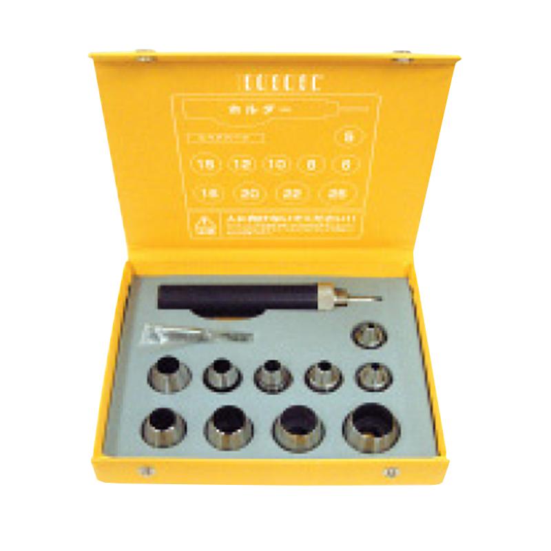 【10本入】 3H-PS10 パッキンポンチセット 5・6・8・9・10・12・15・16・20・22・25 mm 各1本 (ホルダー・スペアパーツ付) スリーエッチ HHH H