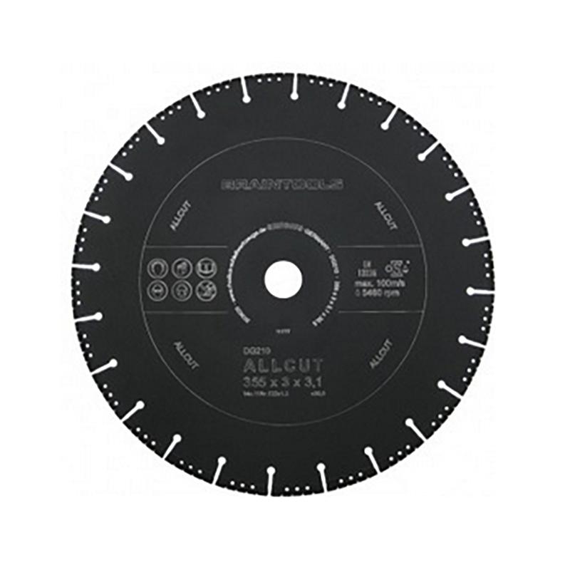 ディスクグラインダー 用 オールカットアトム ダイヤモンドディスク 355×3.1×30.5(25.4/22) コンクリート 鉄 乾湿両用 ローデウス 三冨D