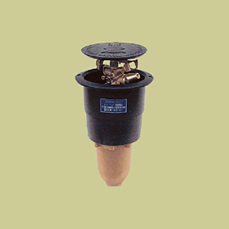 高耐久 金属 (緑化用 ゴルフ場等) ポップアップスプリンクラー PUP-120G 口径 8.7×4.4×2.4×2.4 mm 基本寸法 1-1/2PT 27度 共立イリゲート 防J【代引不可】
