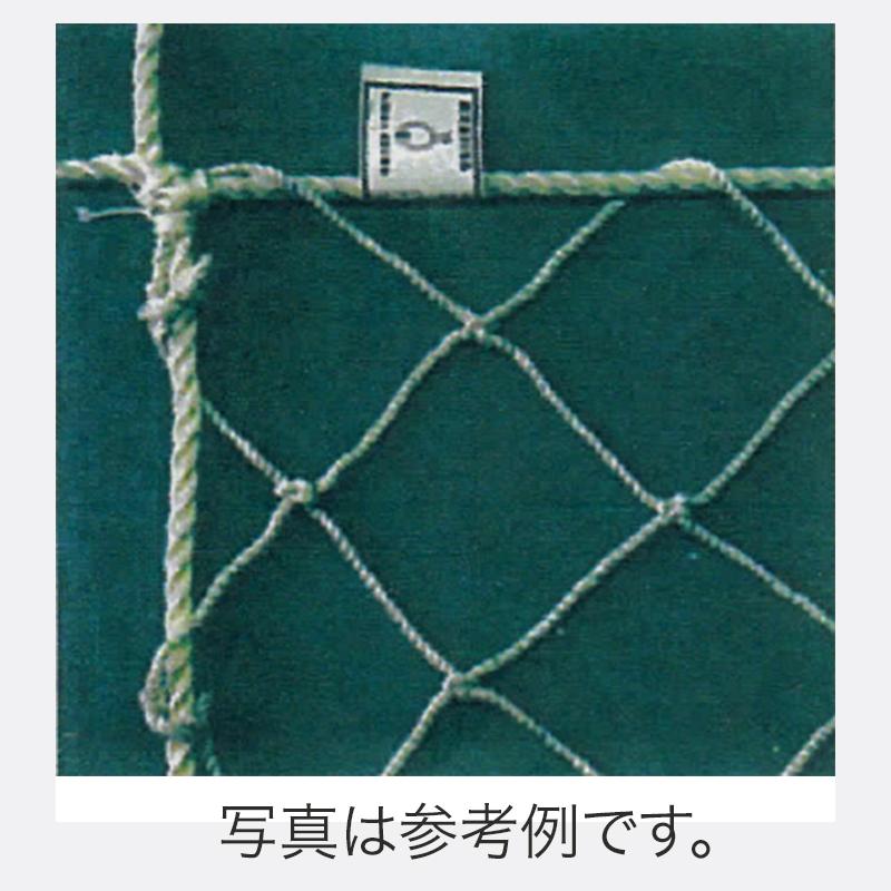【4枚】 鉄骨 用 安全ネット (標準品) 直径3.2mm ×網目100mm 5m×10m ポリエステル 白 アミD