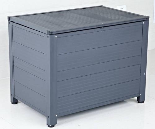 アルミ製 ストッカーBOX AS-7450GY 容量:160リットル ベランダストッカー アルミスアS【代引不可】
