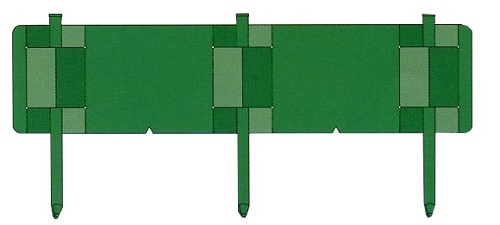 【個人宅・現場入・北海道不可】 土留鋼板 とまるくん 本体のみ 10枚組 緑色 ニッケンフェンス&メタル 共B【代引不可】