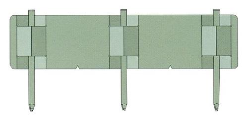 個人宅・現場入・北海道不可 土留鋼板 とまるくん 本体のみ 10枚組 うぐいす色 ニッケンフェンス&メタル 共B 代引不可
