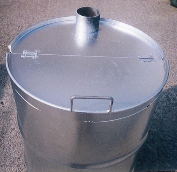 緑 ドラム缶焼却炉 煙突無 200L 焼却炉 納期6週間 ミY