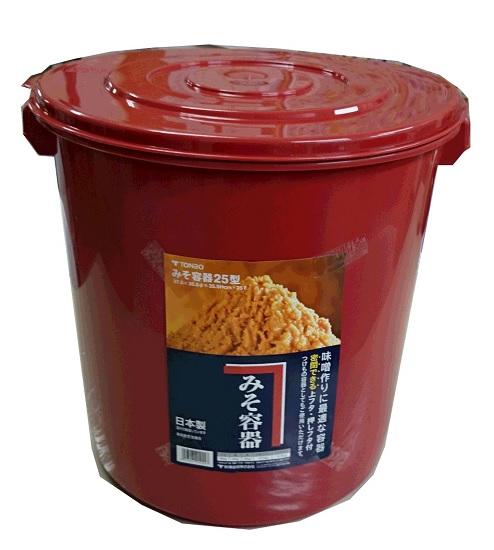 10個 トンボ プラスチック製 みそ樽 25型 容量25L 国産 金T 代引不可