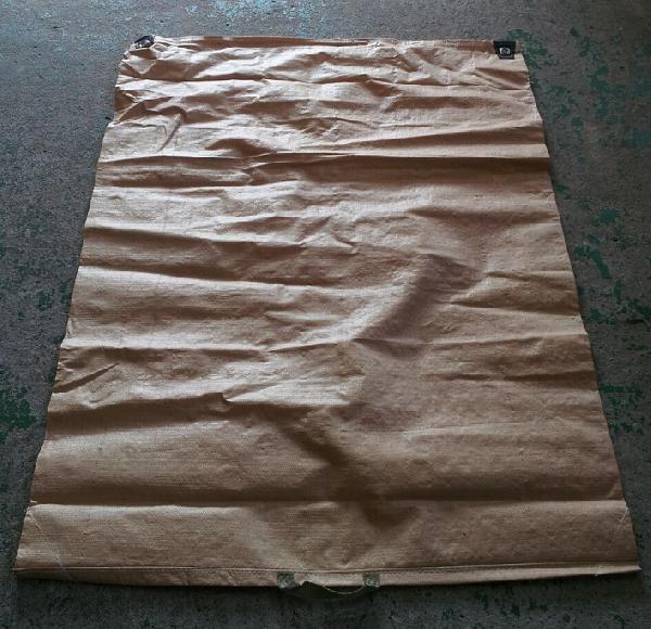 【50枚】 もみがら袋 籾殻袋 樹脂製 (コンテナバッグと同じ素材) 薄茶色 1000×1350mm コ商DNZ