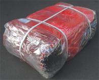 【アウトレット】【名札なし】 500枚 種もみ袋 ( 種籾 ネット、種籾消毒袋 ) - 大40×65cm赤色