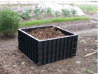 【北海道不可】堆肥枠 容量200L S-07 79×79×高さ40cm サンポリ【代引不可】
