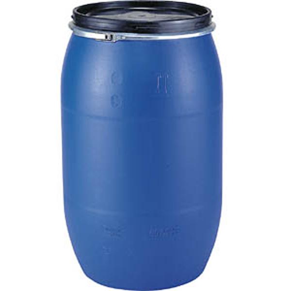 プラスチック ドラム缶 オープンタイプ PDO 220L-1 セット un有 ブルー・グレー プラ ポリ サンコー サ伏【代引不可】