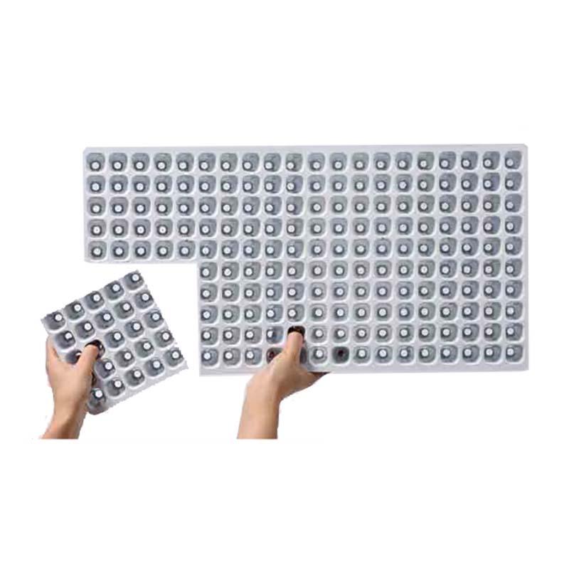 【100枚】 機械用 プラグトレー #4211 TKカットトレー 128穴 8cut 300×590 白黒 高さ44mm 園芸 プラスチックトレー 鉢 明和 明W 【代引不可】