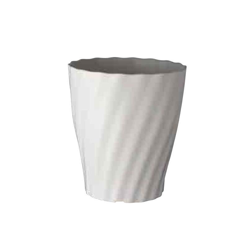 【40個】 #1664 Twistシリーズ Twist ロング 7寸 ホワイト 白 外径208mm 高さ232mm 鉢 明和 明W 【代引不可】