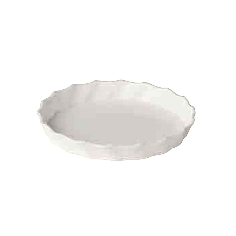 【100個】 #1672 Twistシリーズ Twist 皿 M ホワイト 白 外径195mm 高さ25mm 鉢 明和 明W 【代引不可】