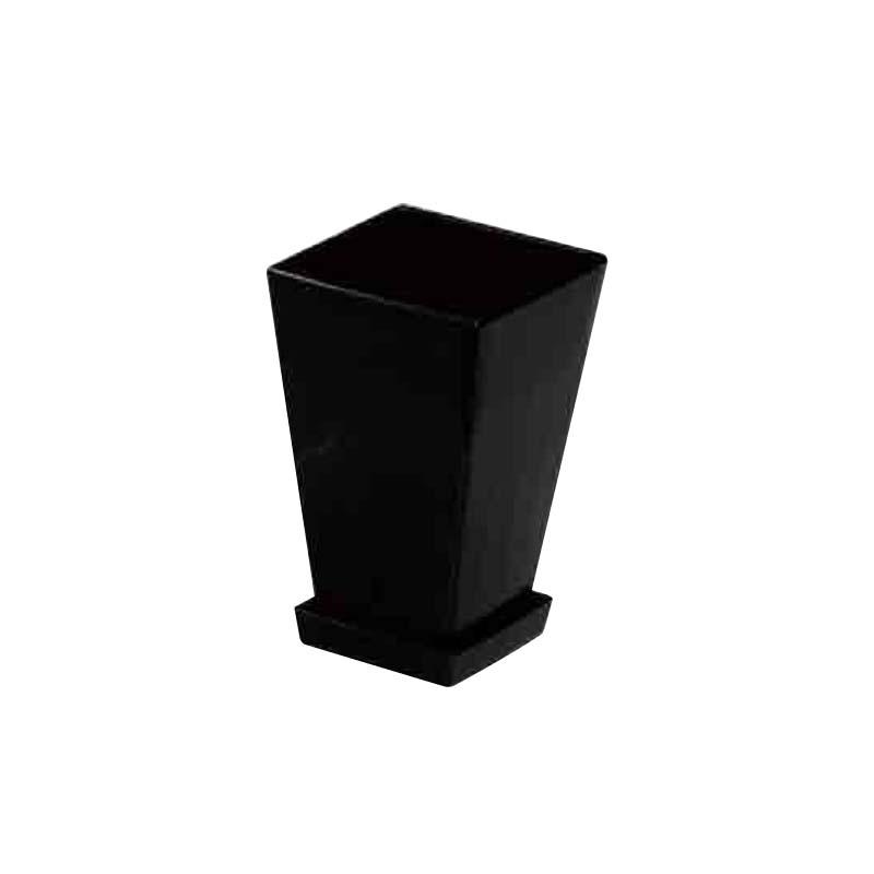【252個】 #1433 プラスチックポット KLシリーズ 鉢と皿セット 4寸 黒 縦100mm 横100mm 高さ145 鉢 明和 明W 【代引不可】