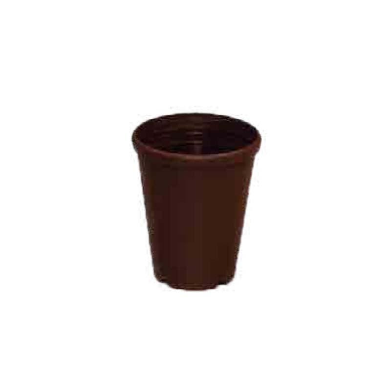 【450個】 #1111 プラスチックポット DXシリーズ 4寸 こげ茶 外径123mm 高さ145 鉢 明和 明W 【代引不可】