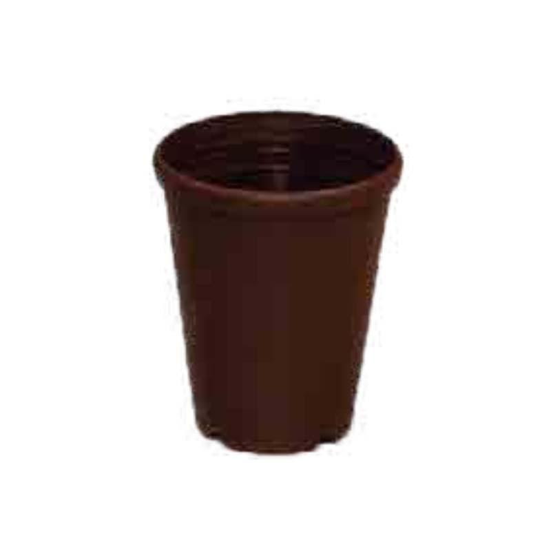 【210個】 #1112 プラスチックポット DXシリーズ 5寸 こげ茶 外径156mm 高さ186 鉢 明和 明W 【代引不可】