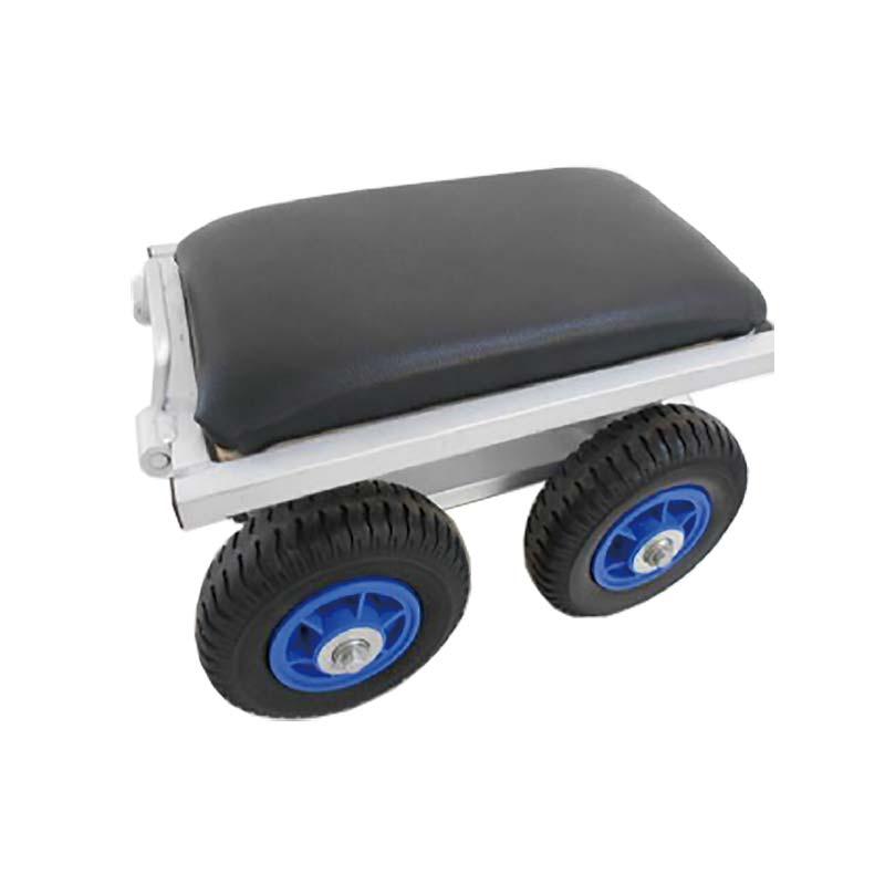 【2個】 農作業用 アルミカート タイヤ付 アルミチェア シN 直送