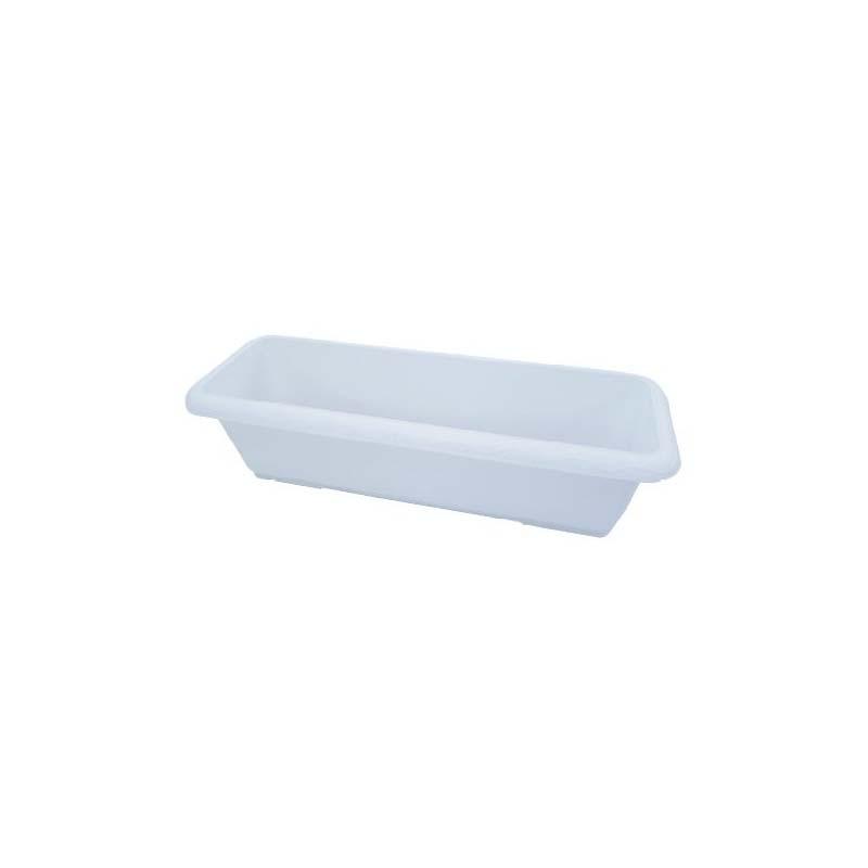 【個人宅配送不可】 【30個】 AZプランター 650 ホワイト すのこ付 長方形 白 安全興業 【代引不可】