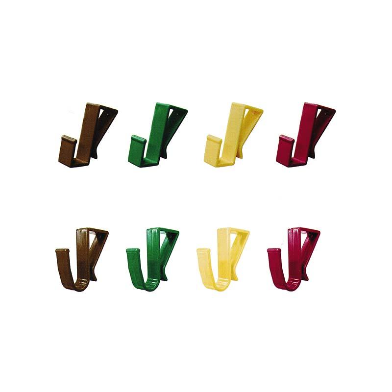 個人宅配送不可 20個入×50P マルチフック 角タイプ・Jタイプ 4色混在 安全興業 代引不可