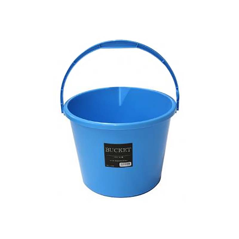 【個人宅配送不可】 【40個】 バケツ 10L 青 プラスチック製 安全興業【代引不可】