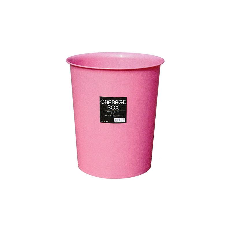 【個人宅配送不可】 【40個】 丸型ダストボックス ピンク プラスチック製 ゴミ箱 安全興業【代引不可】