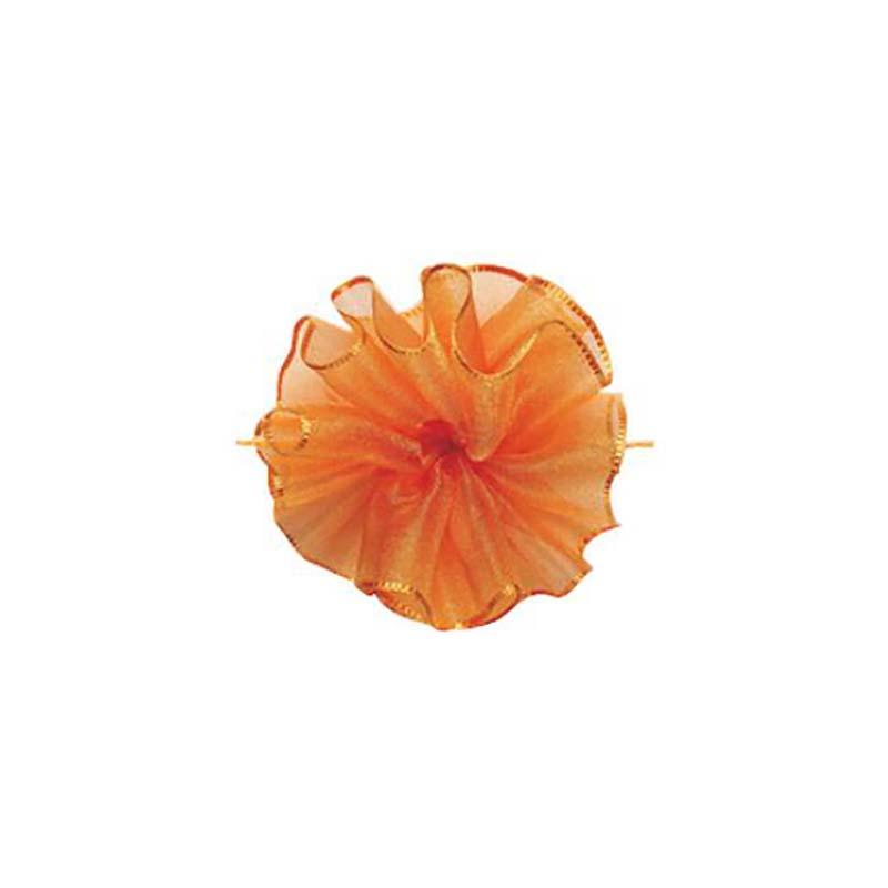 10セット 東京リボン ワンタッチソフトオーガンジー タンゴオレンジ [ 24mm×10m ] リボン コサージュ ギフト ラッピング 贈り物 カ園 代引不可