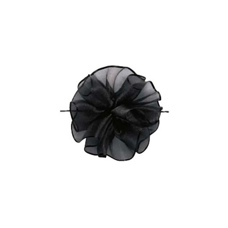 10セット 東京リボン ワンタッチソフトオーガンジー サーブルブラック [ 24mm×10m ] リボン コサージュ ギフト ラッピング 贈り物 カ園 代引不可