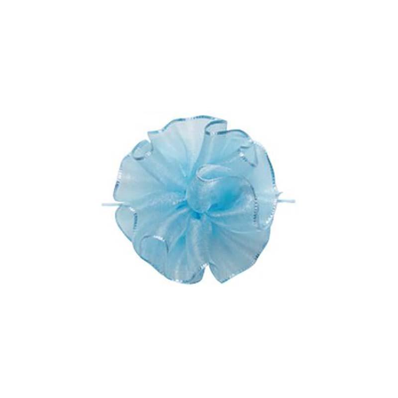 【10セット】 東京リボン ワンタッチソフトオーガンジー セレストブルー [ 24mm×10m ] リボン コサージュ ギフト ラッピング 贈り物 カ園 【代引不可】