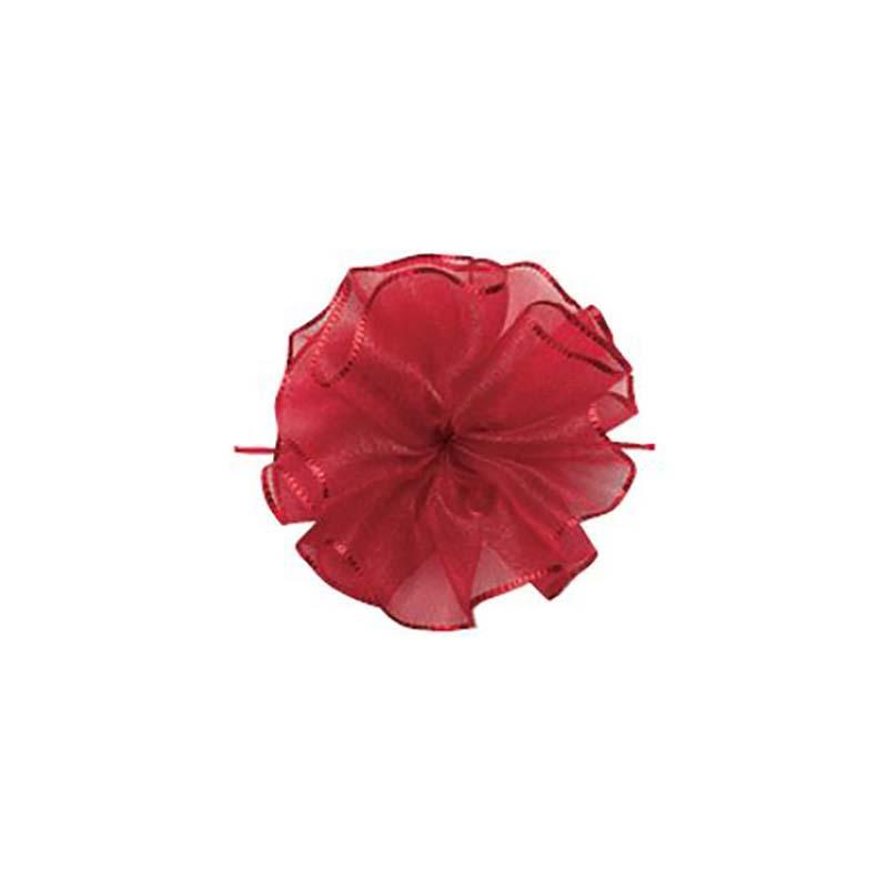 10セット 東京リボン ワンタッチソフトオーガンジー ルージュレッド [ 24mm×10m ] リボン コサージュ ギフト ラッピング 贈り物 カ園 代引不可