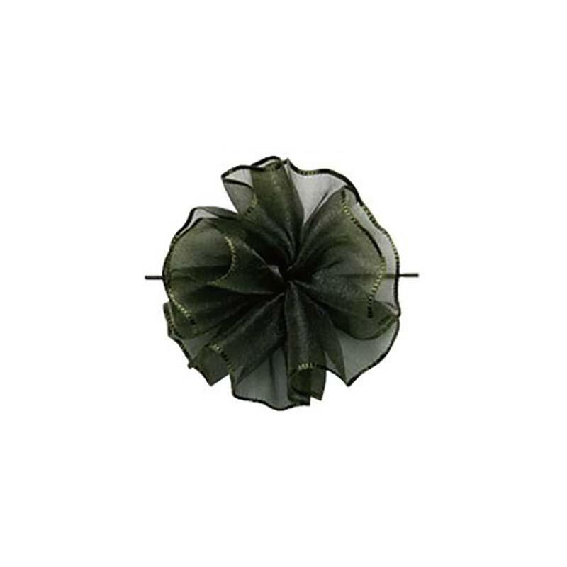 【10セット】 東京リボン ワンタッチソフトオーガンジー シプレグリーン [ 24mm×10m ] リボン コサージュ ギフト ラッピング 贈り物 カ園 【代引不可】
