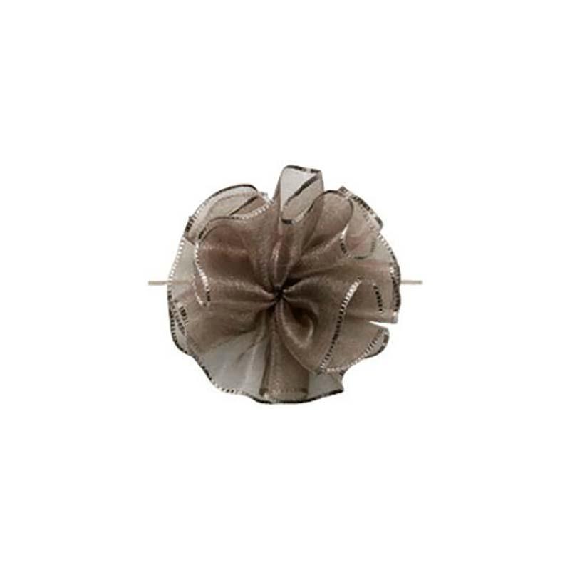 【10セット】 東京リボン ワンタッチソフトオーガンジー グレージュ [ 24mm×10m ] リボン コサージュ ギフト ラッピング 贈り物 カ園 【代引不可】