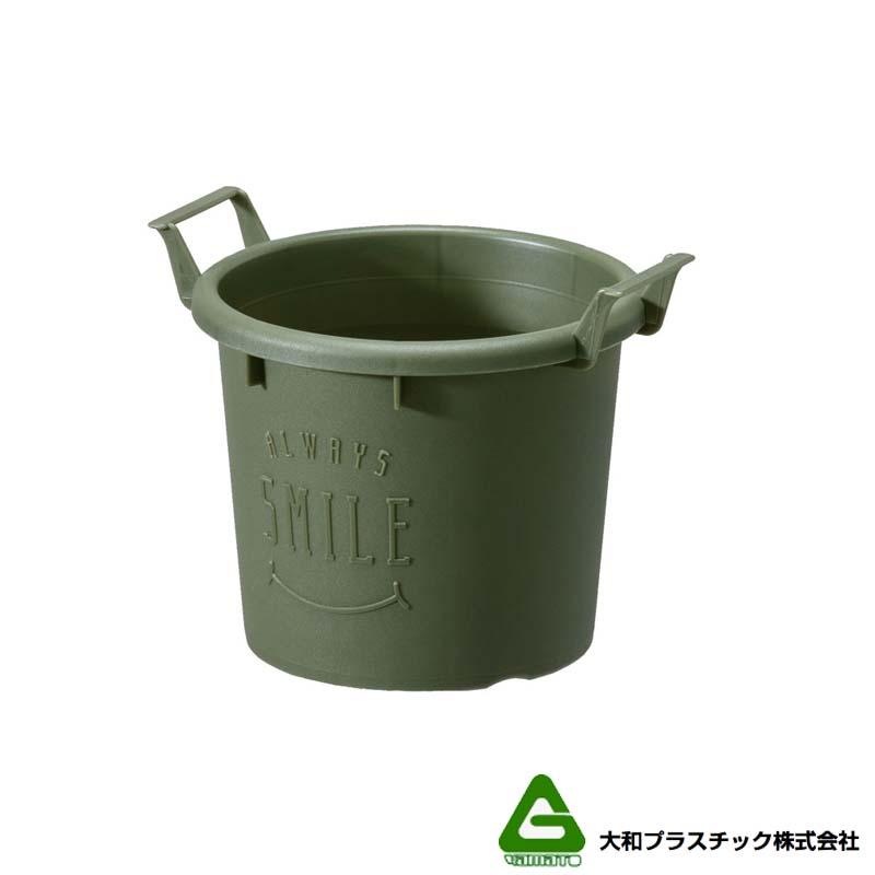 【120個】 グロウコンテナ 12型 グリーン 大和プラスチック 0.6L 140×120×H112mm プランター 丸型 ポット 緑 鉢 タ種 【代引不可】