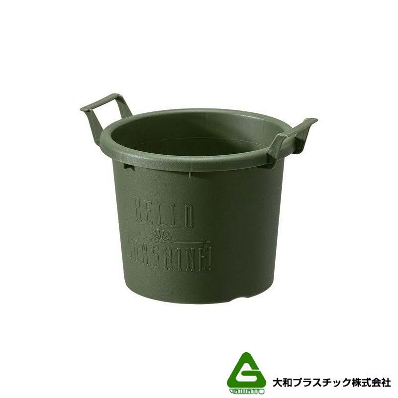 【90個】 グロウコンテナ 18型 グリーン 大和プラスチック 1.8L 200×170×H155mm プランター 丸型 ポット 緑 鉢 タ種 【代引不可】