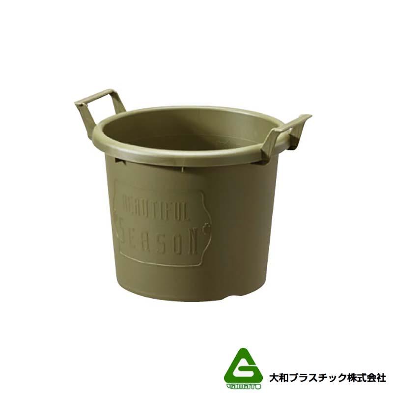 【40個】 グロウコンテナ 24型 グリーン 大和プラスチック 5.5L 280×240×H216mm プランター 丸型 ポット 緑 鉢 タ種 【代引不可】