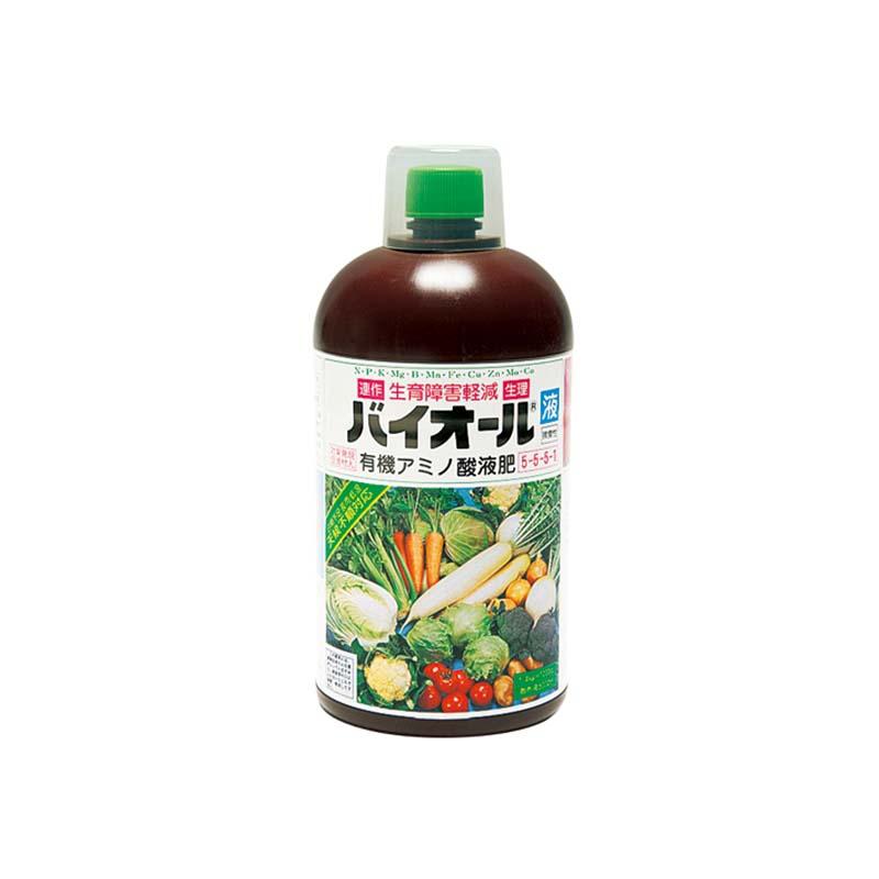 [12個] 有機アミノ酸葉面散布剤 バイオール液 1200cc タキイ種苗 生育障害軽減 土壌環境改善 活力液肥 液体肥料 液肥 タ種 代引不可