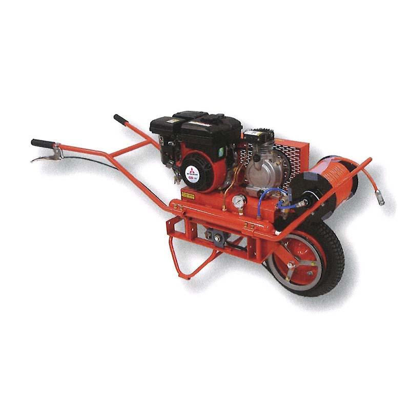 【個人宅配送不可】エンジンコンプレッサーGM TAC-GM1 自走一輪型 エアーコンプレッサー タイガー ハオ【代引不可】