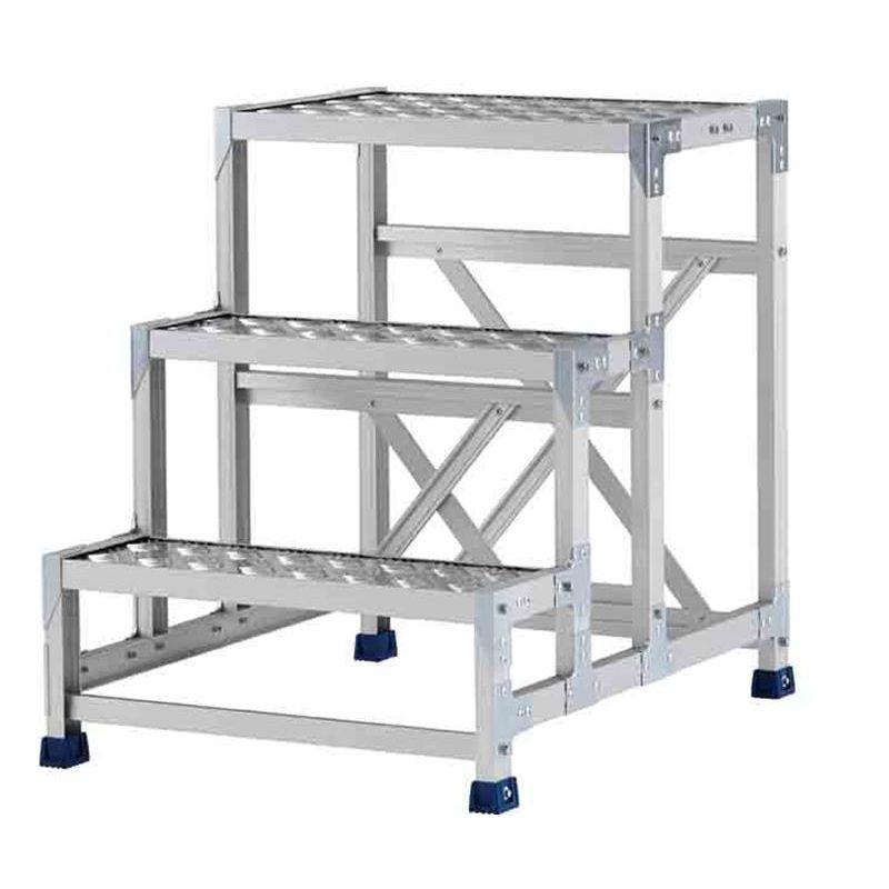 【北海道・個人宅配送不可】 作業台(ステンレス金具仕様) 天板高さ:500mm 組立式 縞板天板 CMT-151WS アルインコ アR 【送料無料】【代引不可】