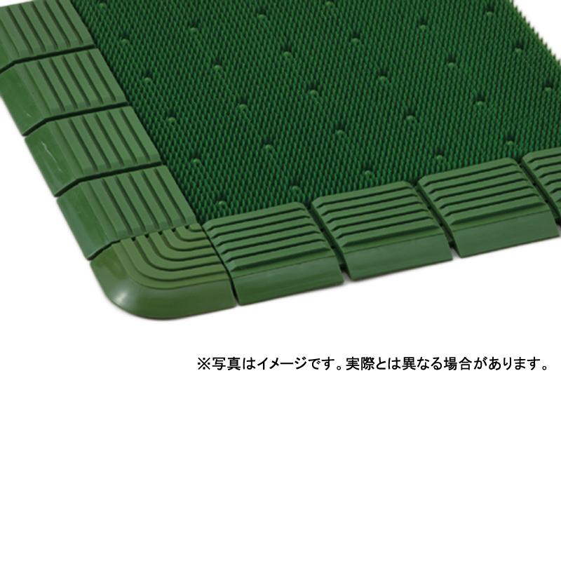 【個人宅配送不可】 ドリームマット 18号 90 × 180 (cm) 色:緑 人工芝 防塵加工 カーペット 大一産業 共B 【送料無料】 【代引不可】