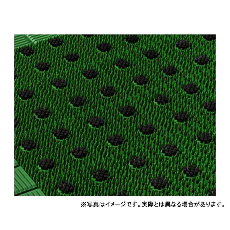 【個人宅配送不可】 キングブラッシュマット 15号 90 × 150 (cm) 色:緑/緑 アクリフト樹脂 寒冷地対応 カーペット 大一産業 共B 【送料無料】 【代引不可】